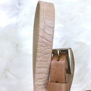 Ann Taylor Gold Accents Two Tone Leather Belt L